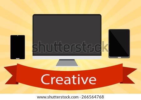 Creative banner vector. - stock vector