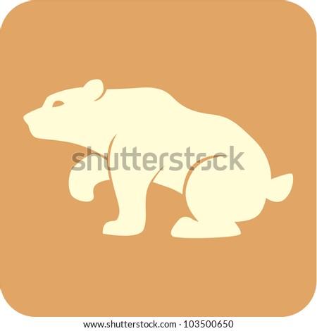 Creative Bear Icon - stock vector