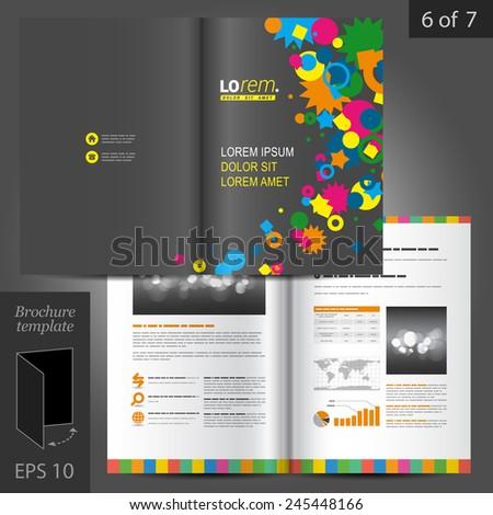 Creative Black Brochure Template Design Color Stock Photo Photo