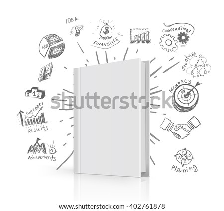 Creative book idea - stock vector