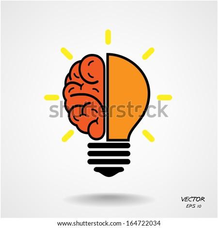 Creative brain Idea concept background design for poster flyer cover brochure ,business dea ,abstract background.vector illustration  - stock vector