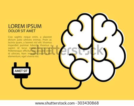 Creative brain idea concept. Creativity. Vector background - stock vector