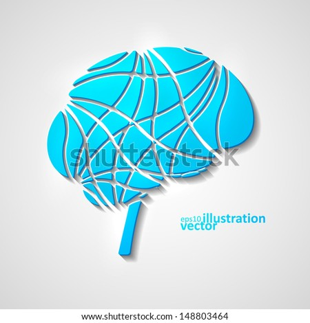 Creative brain, modern vector illustration eps10