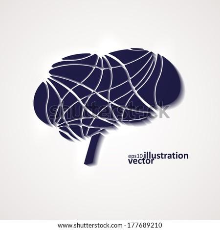Creative brain, modern vector illustration eps10 - stock vector