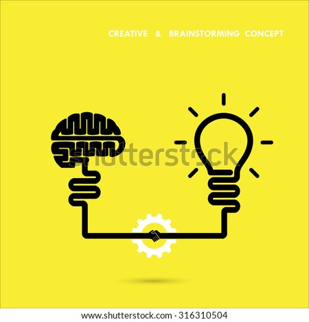 Creative brainstorm concept business and education idea, innovation and solution, creative design, vector illustration - stock vector