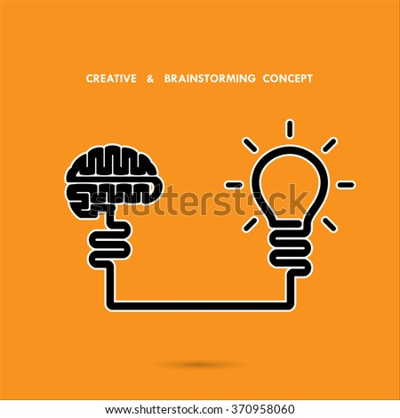 Creative brainstorm concept ,business and education idea, innovation and solution, creative design, vector illustration