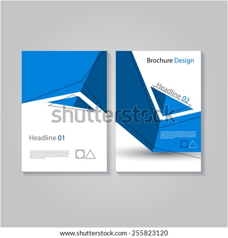 Creative brochure / flyer design, eps10 Vector. - stock vector