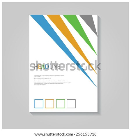 Creative brochure / flyer design with simple colorful stripes. - stock vector