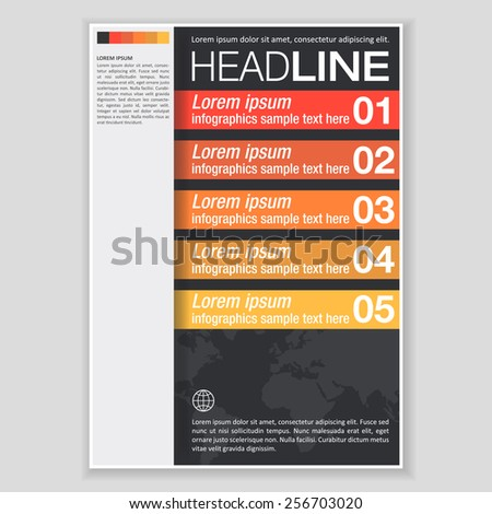 Creative Brochure Template Design. Abstract  Vector Flyer, Pamphlet, Leaflet layout for marketing, advertising and Flat style web site banners. Background for Business Documents, Posters and Placards. - stock vector