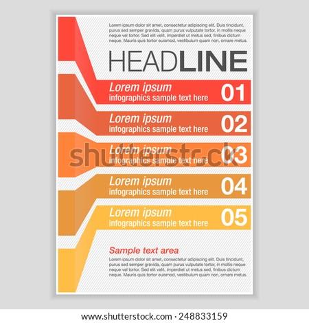 Creative Brochure Template Design Infographic Chart Stock Vector ...