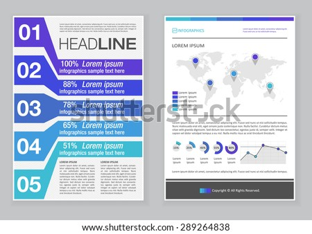 Creative Brochure Template Design Abstract Vector Stock Vector