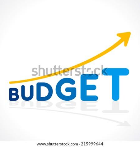 creative budget  word growth graph vector - stock vector