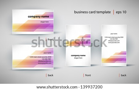 creative business card template set, editable vector illustration - stock vector