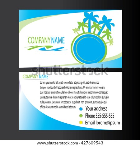 Creative business card template palm trees stock vector 427609543 creative business card template with palm trees image flat design vector illustration colourmoves
