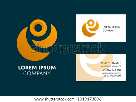 Creative business card template yellow abstract stock vector creative business card template with yellow abstract logo name work position phone wajeb Image collections