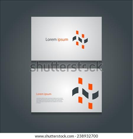 Creative business cards set, Vector eps10. - stock vector