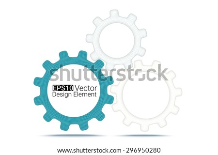 creative business concept with wireframe gears. Eps10 vector background for your design - stock vector