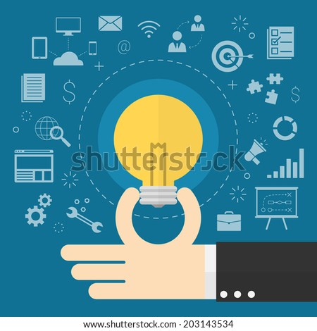 creative business ideas - stock vector
