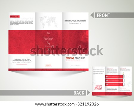 Creative Business Trifold Brochure Template Flyer Stock Vector
