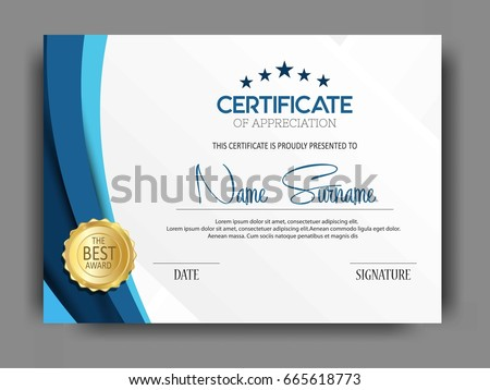 Creative Certificate Template Clean Modern Pattern Vector