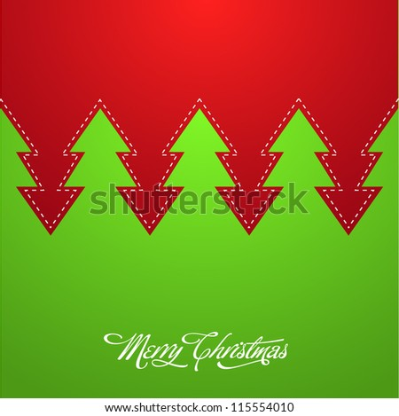 Creative Christmas Background - stock vector
