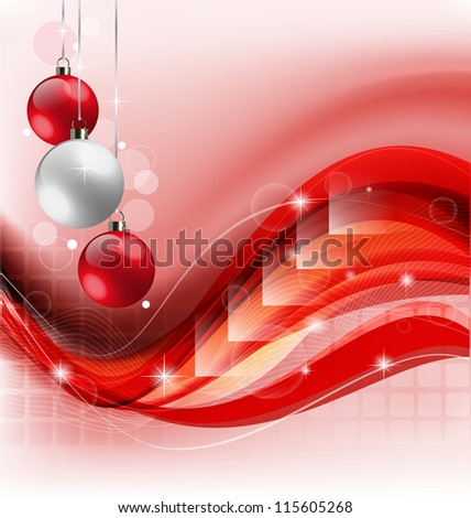 Creative Christmas background illustration with abstract elements and embellishment - stock vector