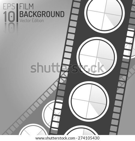 Creative Cinema Background Design. Vector Elements. Minimal Isolated Film Illustration. EPS10 - stock vector