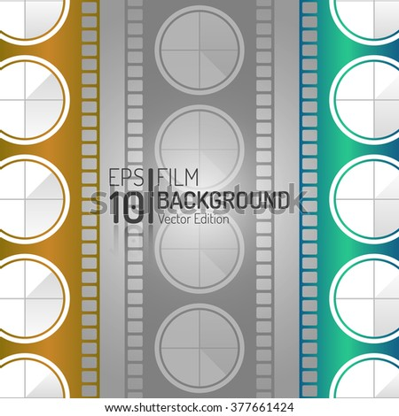 Creative Cinema Background Design. Vector Elements. Minimal Isolated Film Illustration. EPS10 - stock vector