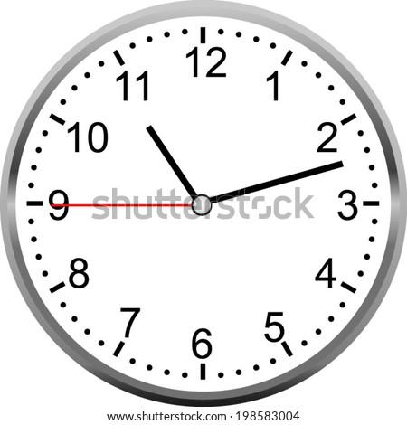 Creative clock face. - stock vector