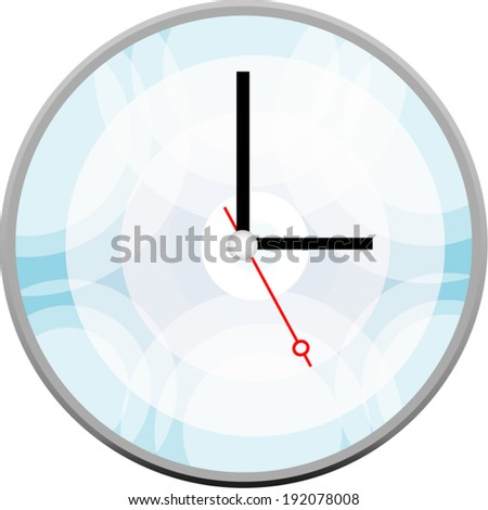 Creative clock face design. - stock vector