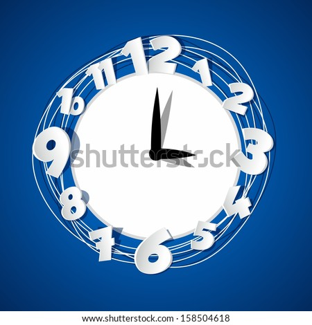 Creative Clock vector illustration - stock vector