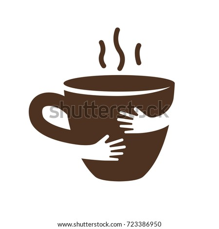 Creative Coffee Tea Cup Hands Logo Stock Vector HD (Royalty Free ...