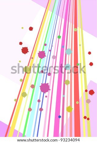 Creative color wallpaper - stock vector