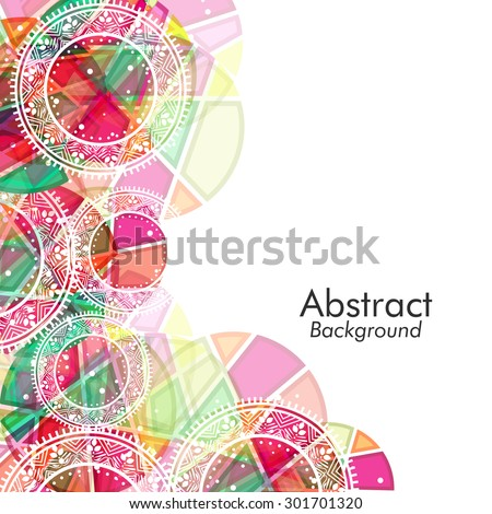 Creative colorful floral design decorated abstract background. - stock vector