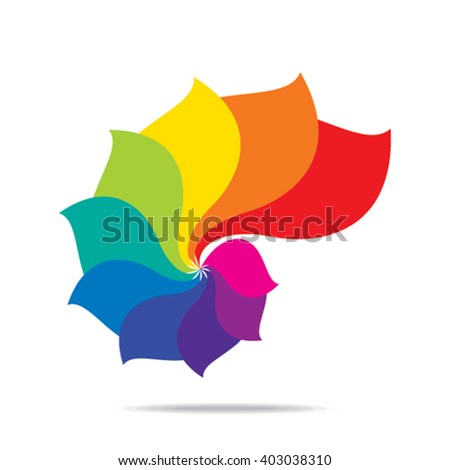 creative colorful leaf symbol design vector - stock vector