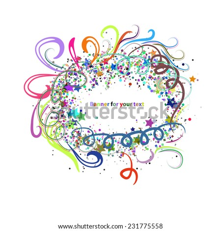 creative colors banner for your text - stock vector