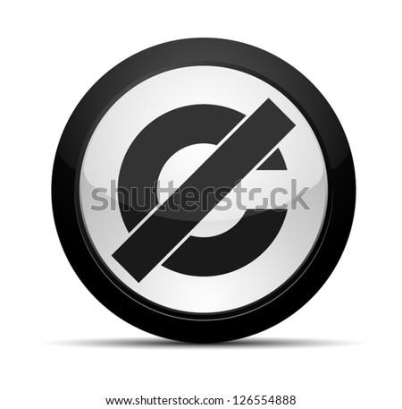Creative Commons Public Domain - stock vector