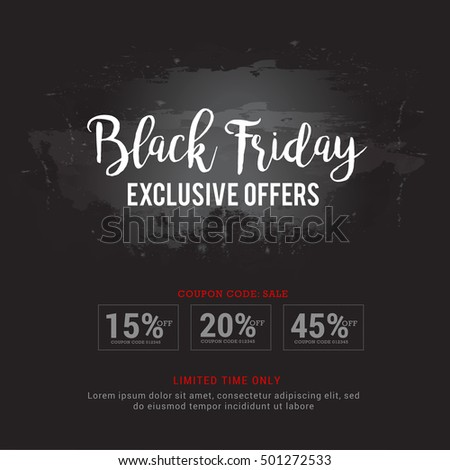 Creative concept of black Friday sale poster or banner background.
