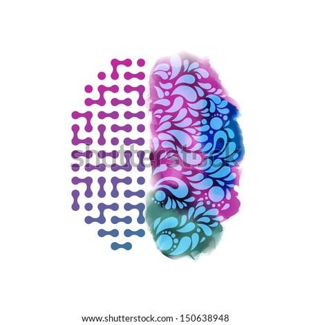 Creative concept of the human brain, eps10 vector - stock vector