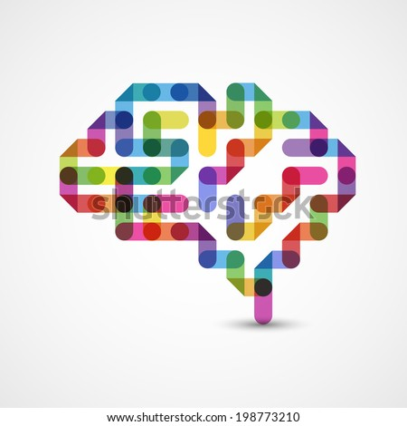 Creative concept of the human brain, eps10 vector - stock vector