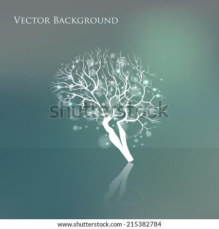 Creative concept of the human brain, vector illustration  - stock vector
