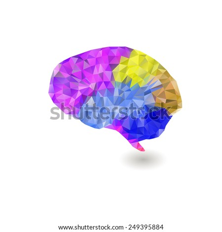 Creative concept of the human psychology, vector illustration