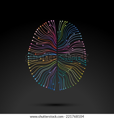 Creative concept of the mind, vector illustration - stock vector