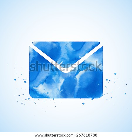 Creative concept vector icon of envelope for Web and Mobile Applications isolated on white background. Vector illustration creative template design, Business software and social media. - stock vector