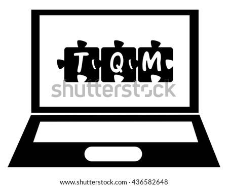 Creative, conceptual sign on laptop screen. Vector art. - stock vector