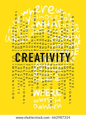 Creative creativity ideas design concept