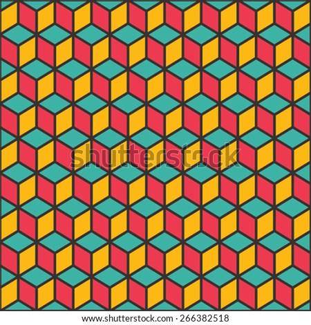 creative cube block pattern background vector - stock vector