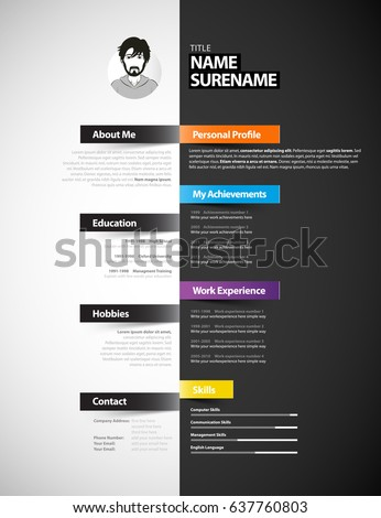 Resume template stock images royalty free images vectors creative cv template with paper stripes yelopaper Images