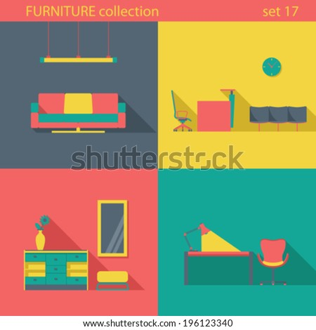 Creative Furniture Icons Set Flat Design See A Rich Collection Of
