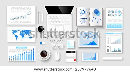 Creative design infographic and statistic Concepts, Web Templates. Vector illustration - stock vector